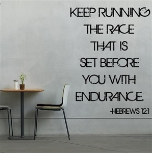 Wall poster - keep running race Hebrews 12:1