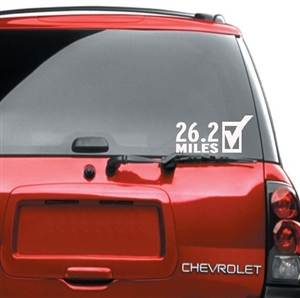 26.2 Car Sticker for Women