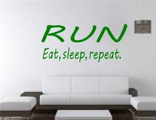 Running wall decal - RUN eat sleep repeat