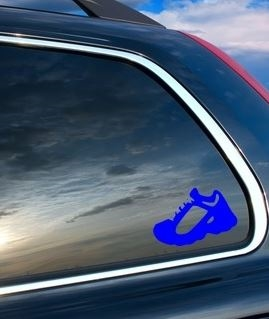 Running shoe car decal