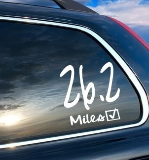 26.2 Women's car sticker