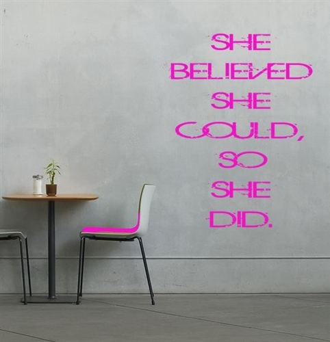 Wall poster - She believed she could