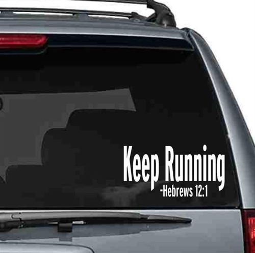Keep running inspirational car sticker - gifts for runners