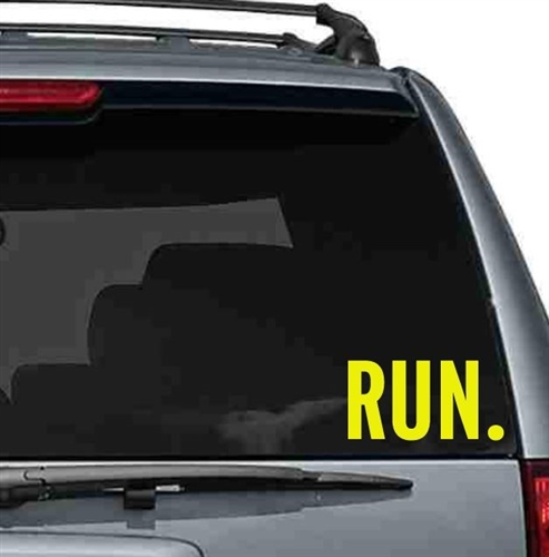 Run. - car sticker