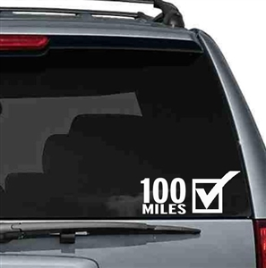 100 Miles Car sticker