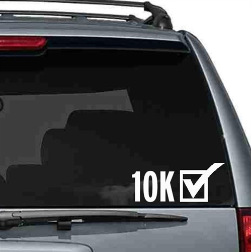 10K Car sticker
