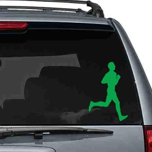 Men's silhouette running car decal