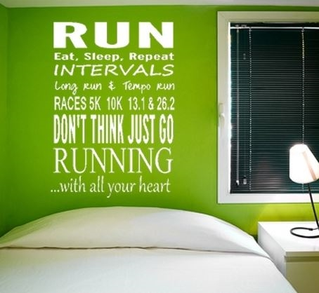 Inspirational Running Wall Vinyl Decal