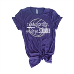 Volleyball Tee Shirt - It Never Gets Easier You Just Get Stronger - For Teen Volleyball Players