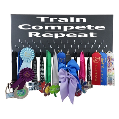 TRAIN COMPETE REPEAT - Medal display rack