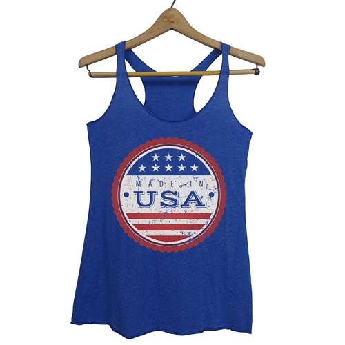 Made in USA Tank - Everyday American Flag Top - for All Patriots who Love Our Country - America First