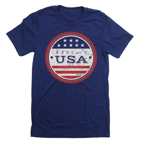 Made in USA T-Shirt - Everyday American Flag Tee - for All Patriots who Love Our Country