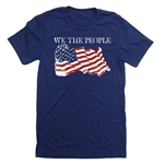 We The People T-Shirt - Everyday American Flag Tee - for All Patriots who Love Our Country - America First