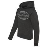 Volleyball Cropped Hoodie - Better Crazy Than Lazy - for Athletic Teen Girls in Charcoal, Black, or Army Green