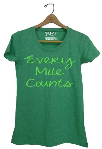 Women's Running Tee - Every Mile Counts