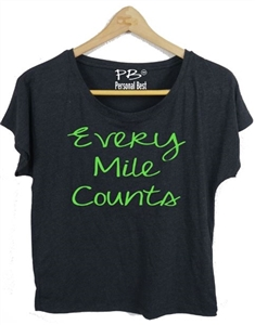 Fitness Top  - Every Mile Counts