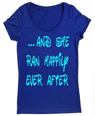 Run Disney - women's t shirt - And she ran happily ever after
