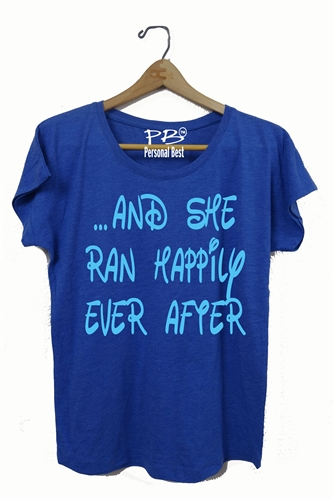 Run Disney - women's tee - And she ran happily ever after.