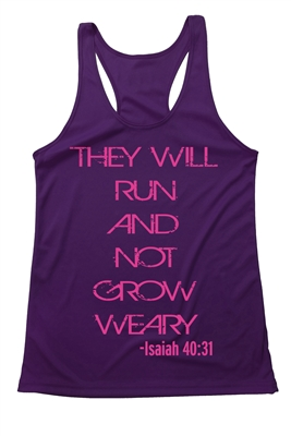 Women's Tank Top - They will run and not .... Isaiah 40:31
