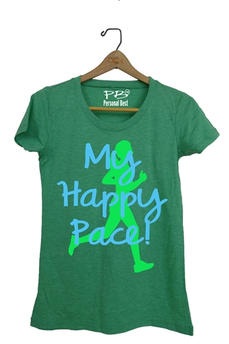 Women's fitness t shirt - My Happy Pace