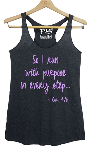 Women's Tank Top  So I run with purpose