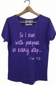 Women's Running Top - So I run with purpose...