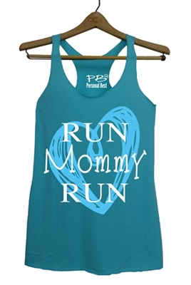 Run mommy run heart - running tank top for women