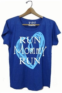 Run mommy run heart - slimming tee for women