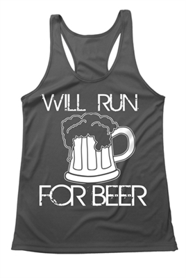 Women's running tank -  Will Run for Beer