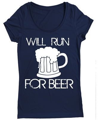 Women's running top -  Will Run for Beer