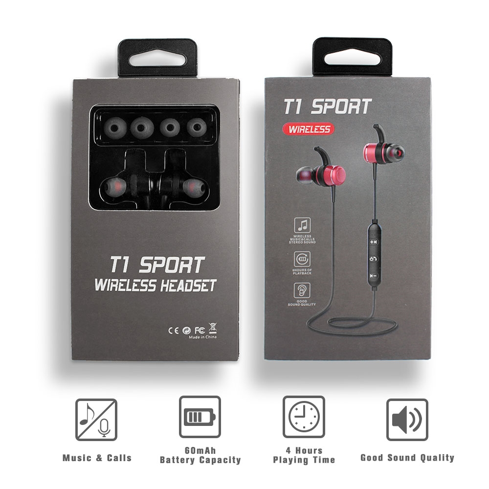 Bthf T1 Stereo Super Base Sports Series Wireless Bluetooth Headsets