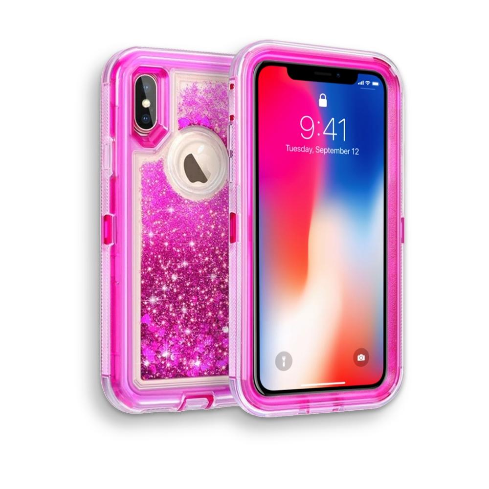 2d94b794bdb iPhone X Glitter OBox Hybrid Cover Case HYB26 Hot Pink