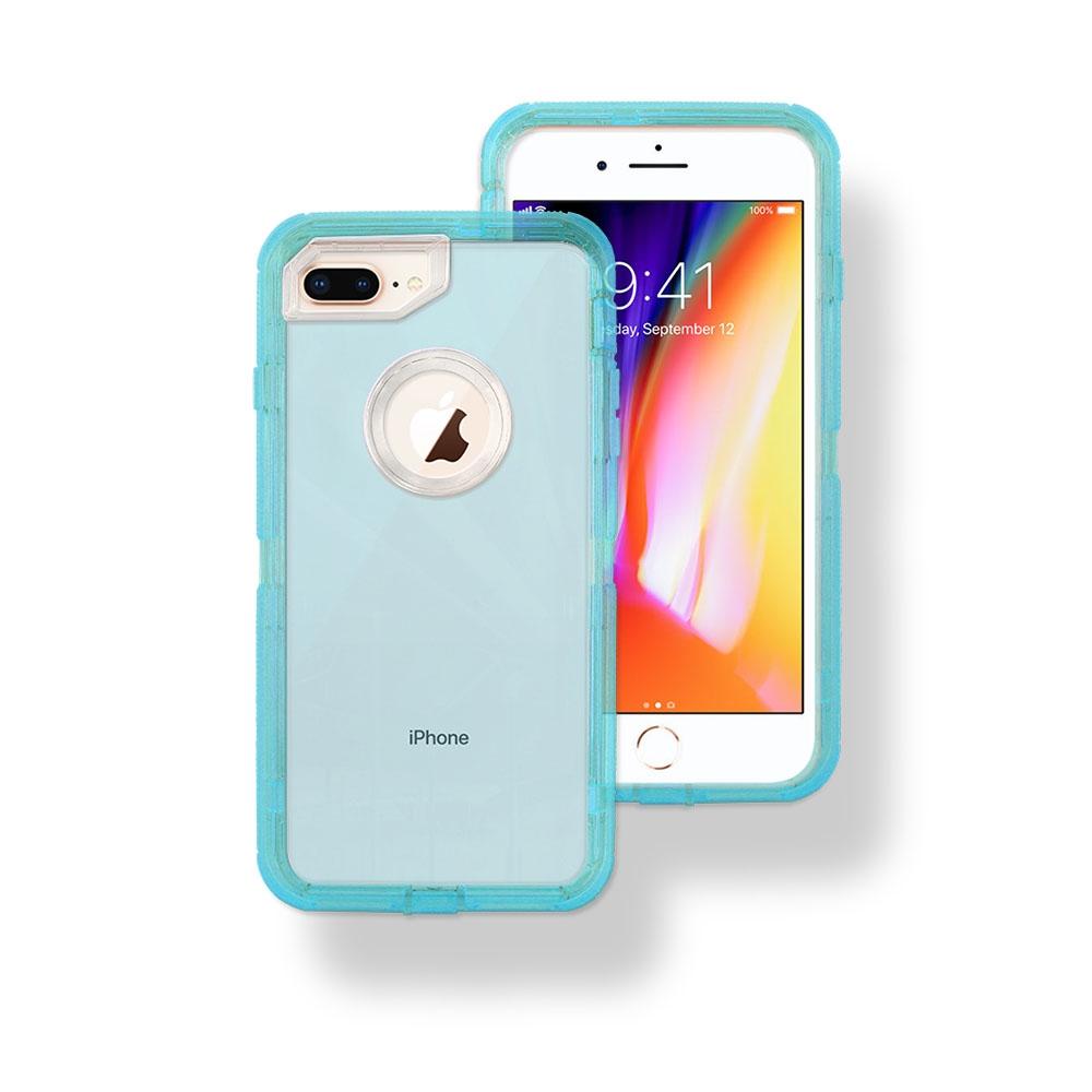 blue iphone xr case transparent