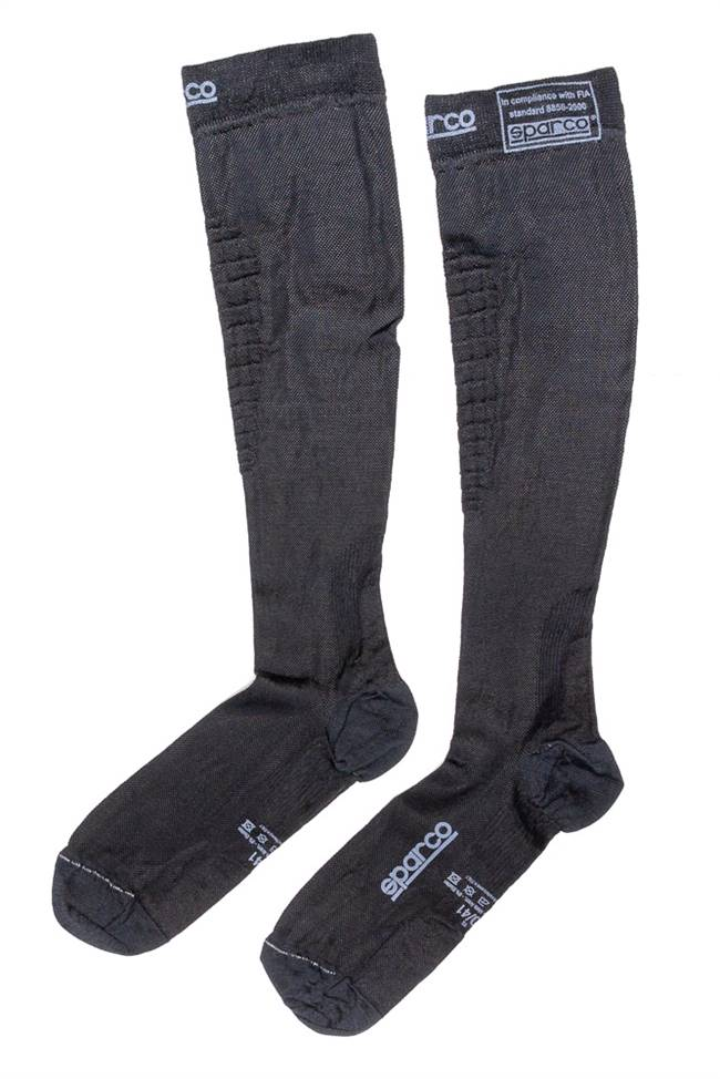 SPARCO Socks - FIA Approved - Nomex - Black - Small - Pair # 001512NR11