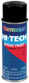 SEYMOUR PAINT Paint - HI TECH - Alkyd Enamel - Flat Black - 16.00 oz Aerosol - Each # 16-133