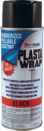 SEYMOUR PAINT Paint - PLASTA WRAP - Synthetic Rubber - Temporary Coating - Peels Away - Black - 16.00 oz Aerosol - Each # 16-2410