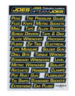 JOES RACING PRODUCTS Toolbox Labels - Kit # 17500