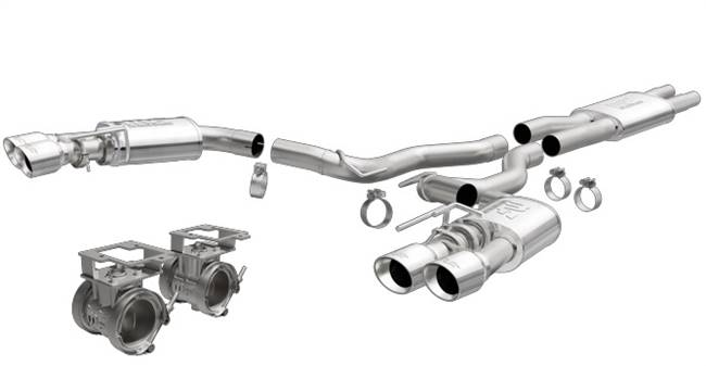 MAGNAFLOW PERF EXHAUST Exhaust System - Street - Cat-Back - 3 in Tailpipe - Stainless - Polished - GT - Ford Mustang 2018 - Kit # 19370