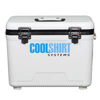 COOL SHIRT Shirt Cooler - Hard - 13 in Length - 8 in Wide - 11 in Tall - Pump - 12 qt - Plastic - Gray - Each # 2002-0004