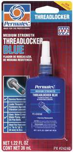 PERMATEX Thread Locker - Blue - Medium Strength - 36 ml Bottle - Each # 24240
