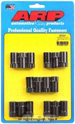 ARP Rocker Arm Nut - 3/8-24 in Thread - 0.620 in Body Diameter - 1.200 in Long - Chromoly - Black Oxide - Stamped Steel Rockers - Set of 16 # 300-8241