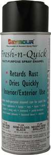 SEYMOUR PAINT Paint - Fresh-N-Quick - Enamel - Gloss Black - 10.00 oz Aerosol - Each # 43428