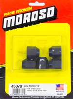 MOROSO Lugnut - 7/16-20 in Thread - 3/4 in Hex Head - 60 Degree Seat - Open End - Steel - Black Oxide - Set of 5 # 46320