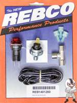 REB-CO Warning Light - Oil Pressure - 20 psi - Adjustable - 1/8 in NPT Male - Light / Sender / Wiring - Red - Kit # 52-1401280