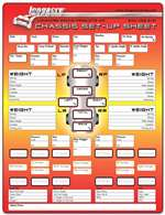 LONGACRE Chassis Setup and Tire Chart - 50 Sheet in Pad - 3 Ring Binder - Each # 52-22528
