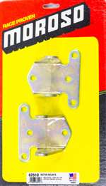 MOROSO Motor Mount - Bolt-On - 3/16 Thick - Steel - Zinc Oxide - Chevy V8 - Pair # 62510