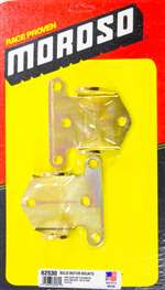MOROSO Motor Mount - Bolt-On - 3/16 Thick - Steel - Zinc Oxide - Chevy V8 - Pair # 62530