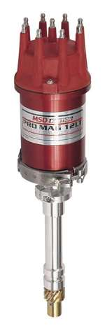 MSD IGNITION Ignition Magneto - Pro Mag 12 LT - Magnetic Pickup - 26 Degree Spark Duration - 40000V - HEI Style - Red - Chevy V8 - Each # 7908