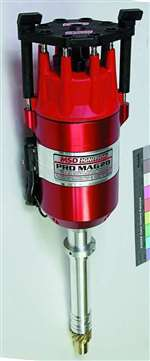 MSD IGNITION Ignition Magneto - Pro Mag 12 LT - Magnetic Pickup - 26 Degree Spark Duration - 40000V - HEI Style - Red - Tall Deck - GM W-Series - Each # 81392