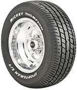 MICKEY THOMPSON Tire - Sportsman S/T - P235/60R-15 - Radial - T Speed Rated - 1642 lb Max Load - White Letter Sidewall - Each # 90000000181